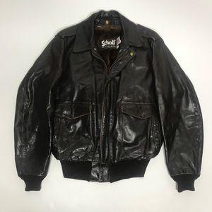 Vintage Schott nyc leather Jacket 44 large